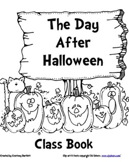 """Class Book, """"The Day After Halloween"""" (What do pumpkins do the day after Halloween?)"""