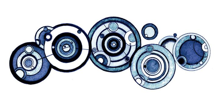 The Doctor's name in Gallifreyan. Gah, I love Gallifreyan script. Complicated, but so symmetrical and pretty!