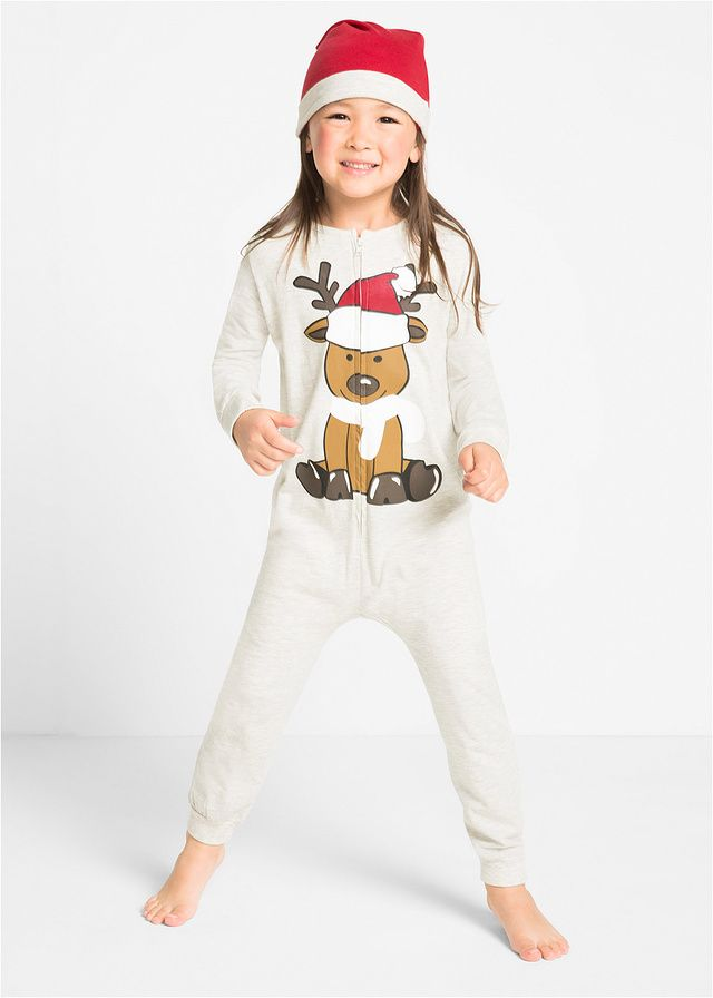 Dla małych skrzatów •  Piżama jednoczęściowa + czapka • 59.99 zł • bonprix