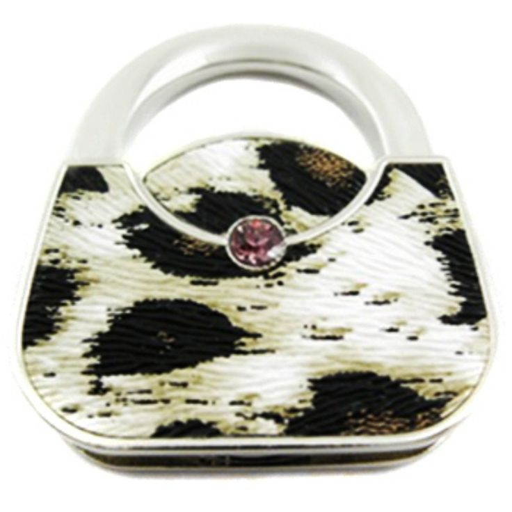 kilofly Purse Hook **12 choices** - Foldable - Isabella, with kilofly Pouch. Each handbag hook is embedded with a rhinestone and is covered with synthetic leather. Leather pattern may vary a little. Foldable and clasp closure, easy to pack and store. Beautiful adornment to match with your handbags. Each purse hook comes with a kilofly pouch; Great gift for all ladies and girls. Size: 4 x 5 x 1 cm / 1.6 x 2 x 0.4 inch (W x L x H) when folded; 8.5 cm / 3.4 inch (Length) when unfolded…