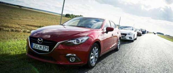 El nuevo Mazda3 llega a Moscú Las 8 uds del Challenger Tour 2013 han recorrido 12.500 kilómetros en 23 días desde Hiroshima a la capital rusa.
