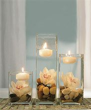 Coloured Floating Candles - Package of 6