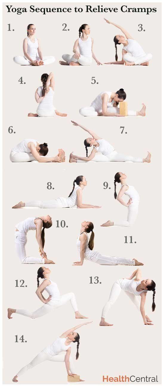 Последовательность Йога, чтобы помочь уменьшить менструальные корчи (инфографика) - Сексуальное здоровье