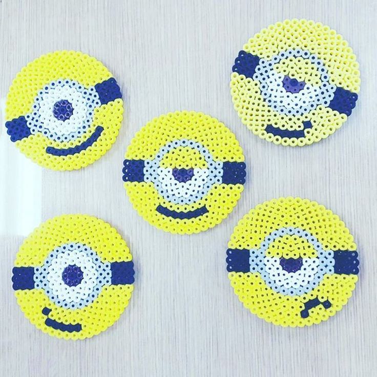 Minion coasters perler beads by fororrida Mehr