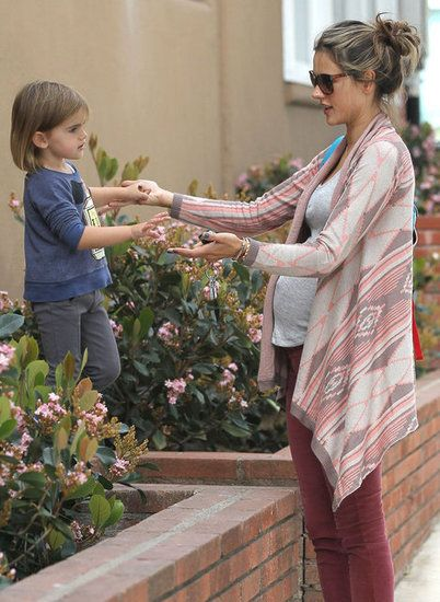 The Victoria's Secret mama was spotted looking casually chic in Santa Monica, CA, with her 2-year-old daughter, Anja.