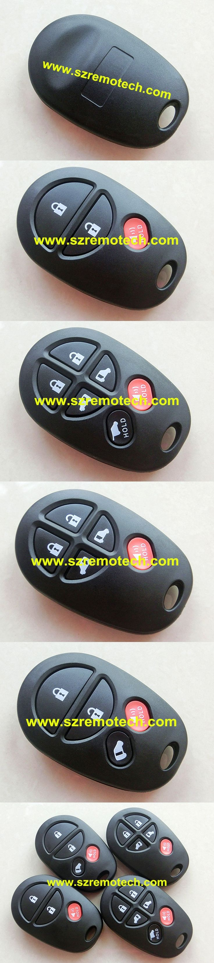 RMLKS Replacement 3 4 5 6 Buttons Remote Car Key Shell Fit For Toyota Camry 2007 Rav4 Auris With Pads