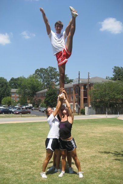 being a guy cheerleader