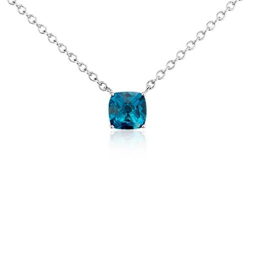 Blue Nile Mixed Shape Blue Topaz Necklace in Sterling Silver qlZwEd