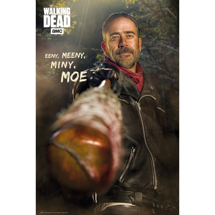 """Poster verticale """"Negan"""" della serie televisiva #TheWalkingDead. Dimensioni: 61 x 91,5 cm."""