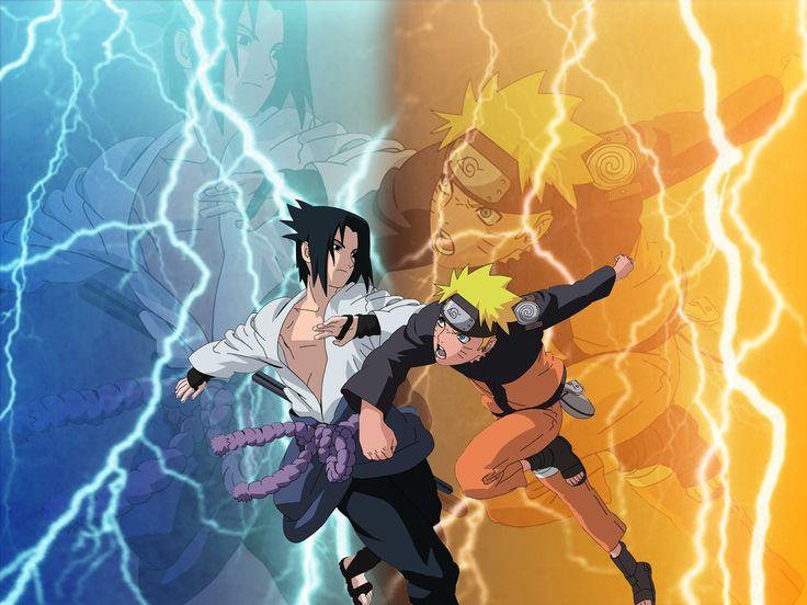 Wallpaper of Naruto vs Sasuke..........Victoror Unknown.... for fans of Naruto Shippuuden. Naruto fight Against Sasuke