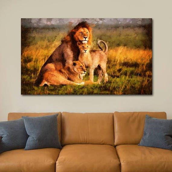 About this product: You get a wonderful decoration element for your apartment with the Lion Family canvas, which will make your interior bright and original. We used a 100% cotton high quality canvas, stretched on a natural wood framework. The image you like, is printed with eco-solvent ink, that is not toxic. You will receive a safe and high-quality organic wall decor, which is fully ready to Hang. Available Sizes: TOTAL SIZE: 24x16 inch | 60x40 cm TOTAL SIZE: 30x20 inch | 75x50 cm TOTAL…
