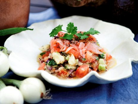 Salsa med gravad lax och koriander   Recept.nu