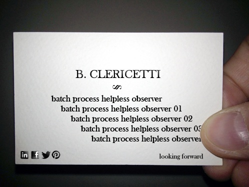 13/02/15 - you'd better choose before importing 300+ clips whether you're going to edit on mac or pc. #bclericettijobs #businesscard #newjob