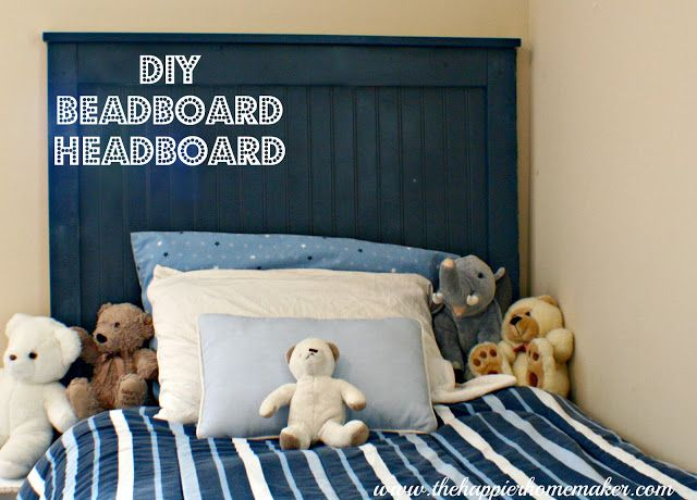 DIY Beadboard Headboard | The Happier Homemaker. For less than $30...