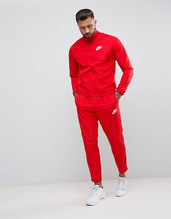 Nike Woven Tracksuit Set In Red 861778 657 | Red tracksuit