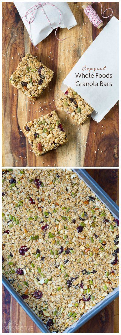 Copycat Whole Foods Chewy Granola Bars! #healthy via @spicyperspectiv