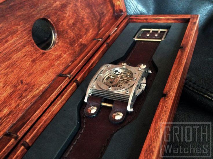 The INDUSTRIAL /Sapphire crystal, custom watch box/