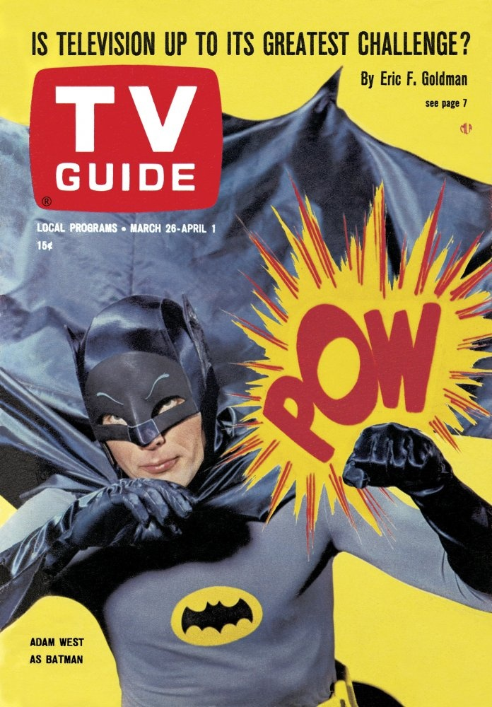 """March 26, 1966. Adam West of Batman - one of my favorites - """"Some days you just can't get rid of a bomb!"""""""