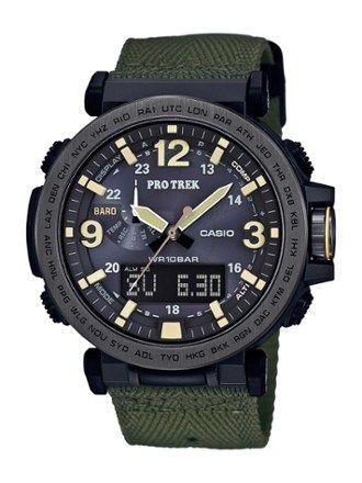 Casio ProTrek Triple Sensor Analog/Digital Watch Black/Green