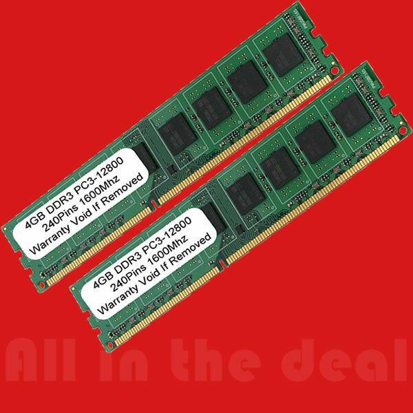 8gb 2x 4gb Ddr3 1600mhz Pc3 12800 Desktop Memory Non Ecc 1600 Low Density Ram 8g 8gb Memories Ram