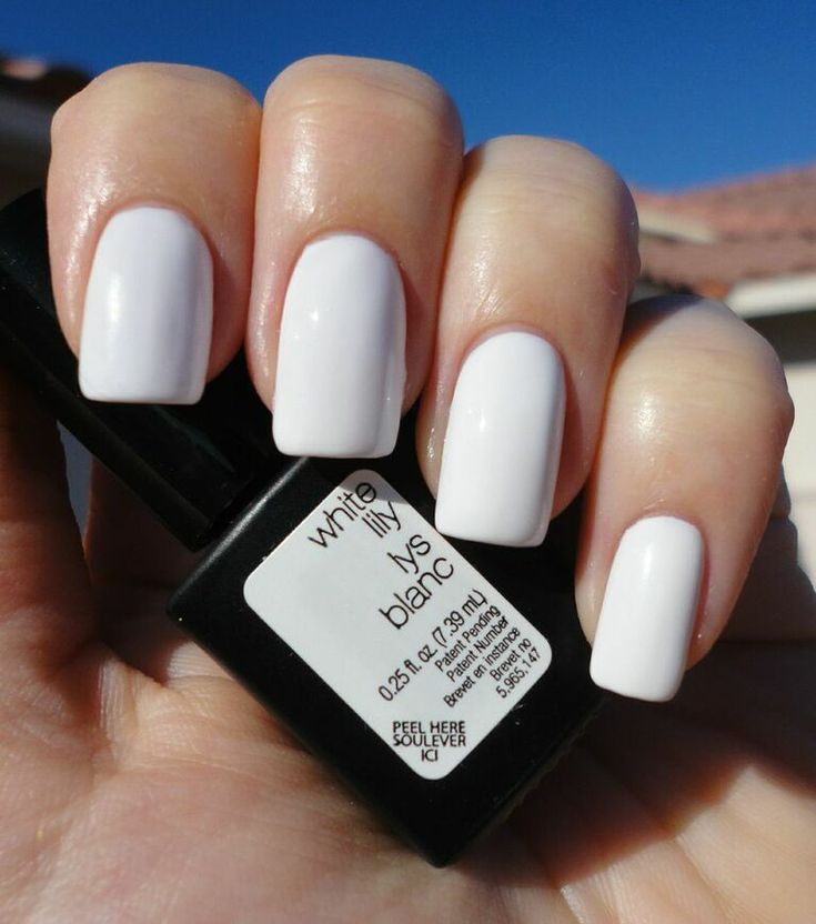 White Lily Gel Color by SensatioNail: http://www.sensationail.com/p/colors/gel-color/white-lily/ #sensationail