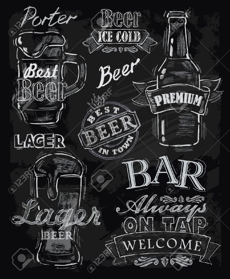 22866330-vector-chalk-beer-on-chalkboard-background-Stock-Vector-menu.jpg 1,071×1,300 pixels