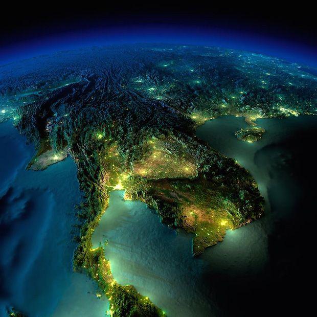 South-Eastern Asia; Thailand, Laos, Cambodia, Vietnam