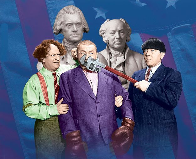 The original forefathers. Happy #4thofJuly from The #ThreeStooges