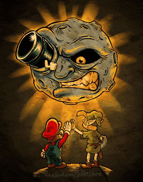 A link (and mario) to the moon.