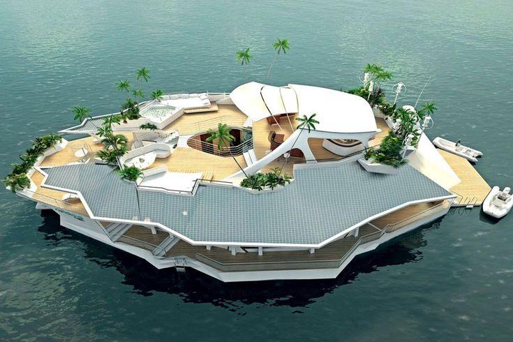 """schwimmende Insel mit dem Namen """"Orsos Island"""""""