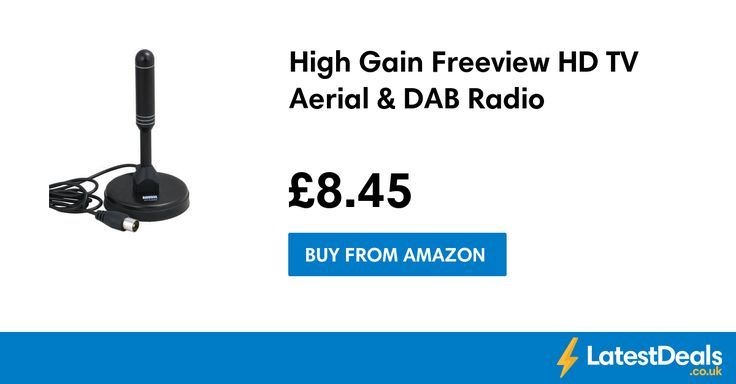 High Gain Freeview HD TV Aerial & DAB Radio, £8.45 at Amazon
