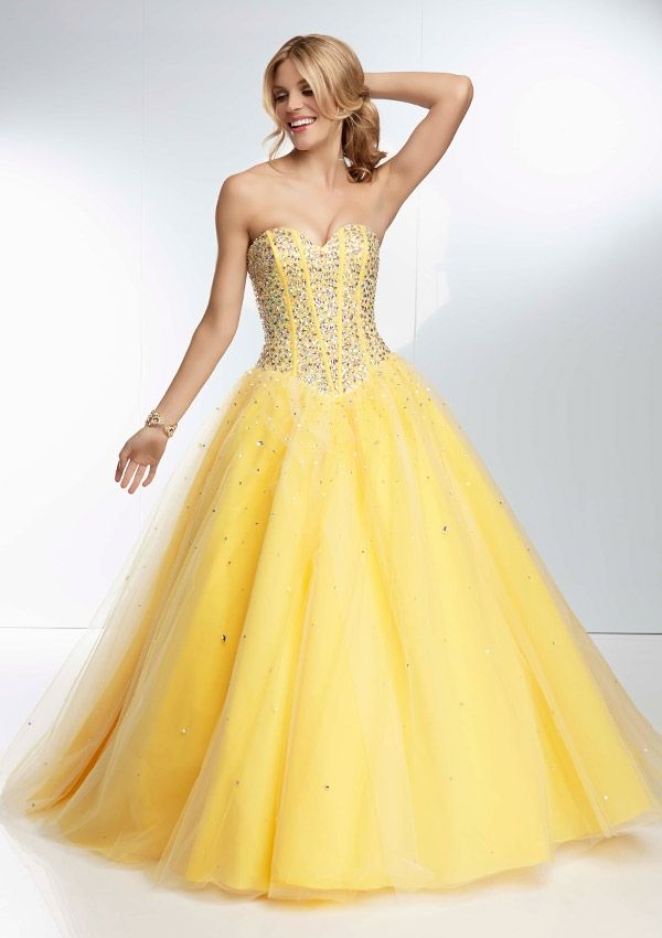 Beaded Boned Bodice On A Tulle Ball Gown Skirt Bridesmaids Dresses(HM0514)
