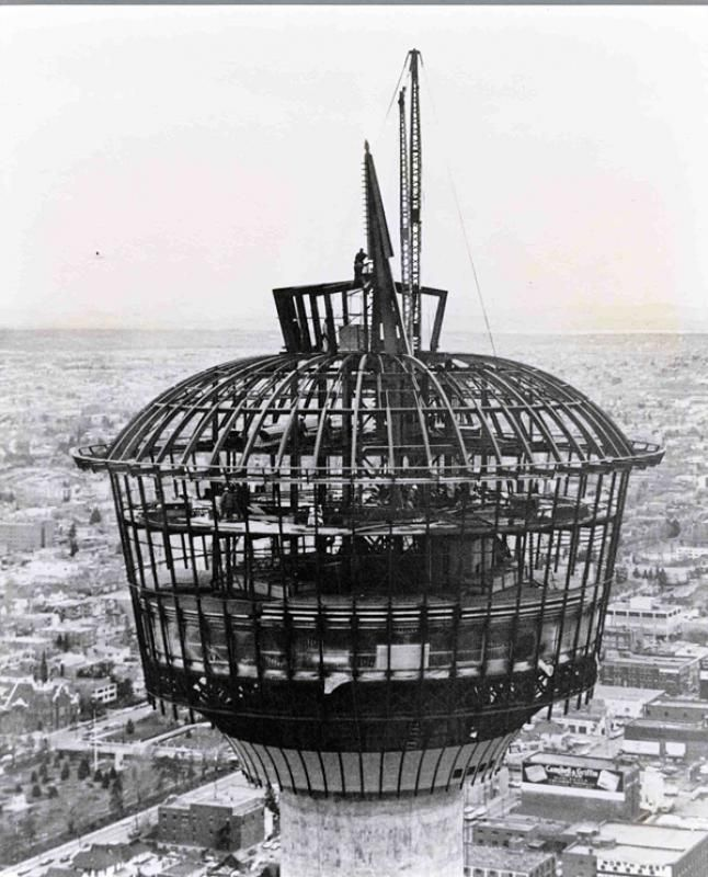 Calgary Tower under construction #1967 #YYC #HuskyTower