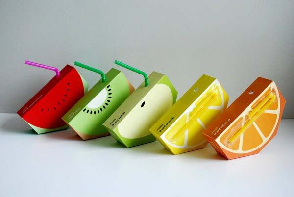 Juices' packaging. Loved this idea!