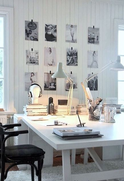 Art inspires us to work hard. What inspires you in your home office?