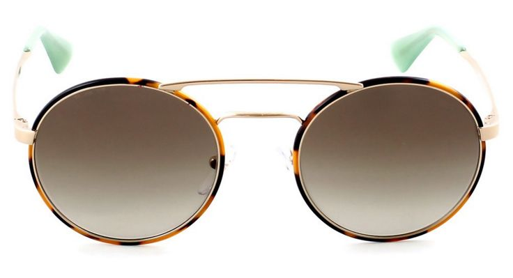 Στρογγυλά γυαλιά ηλίου με μεταλλικό πλαίσιο και διπλή γέφυρα, από την Prada. Prada SPR 51SS