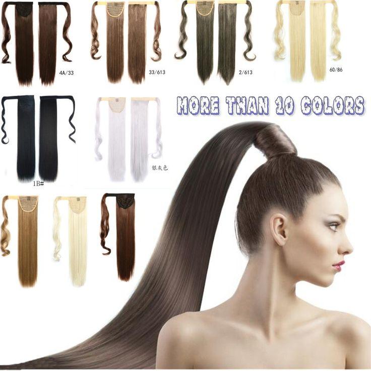 "24"" 60cm long length synthetic ponytails,kanekalon Fake Hair Ponytail,clip in hair ponytail,black/brown/blond syntheitc ponytail http://jadeshair.com/24-60cm-long-length-synthetic-ponytailskanekalon-fake-hair-ponytailclip-in-hair-ponytailblackbrownblond-syntheitc-ponytail/ #Ponytails"