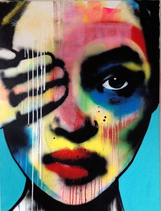 Untitled Eye, by Swedish Artist Emma Tingård. Art, painting, portrait, art poster, art print