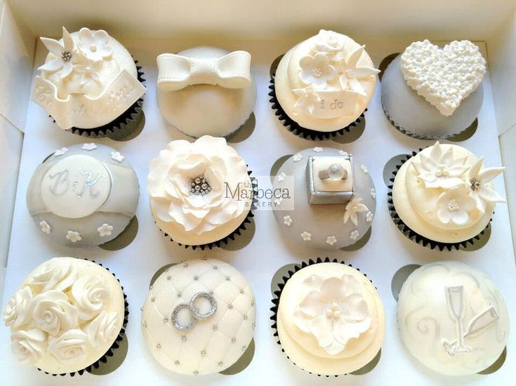 Engagement Cupcake Decorating Ideas