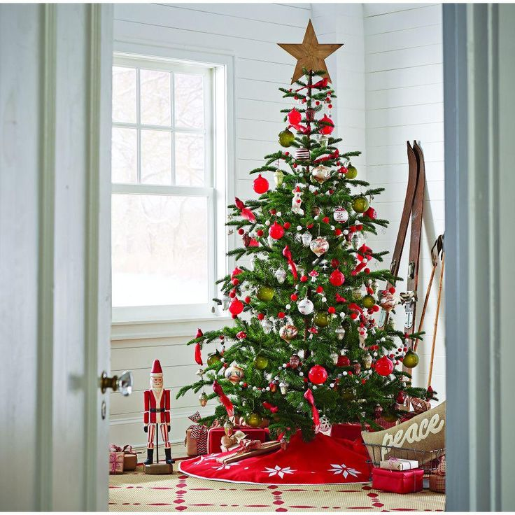 Martha Stewart Living 8 ft. Indoor Norwegian Spruce Hinged Artificial Christmas Tree-9318500610 - The Home Depot