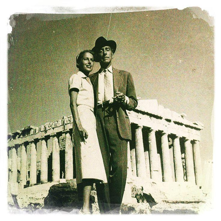 Jean Cocteau at the Acropolis