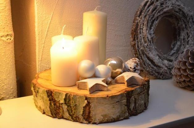 Deko-Objekte - Adventskranz Baumscheibe BIG Weihnachten Advent - ein Designerstück von majalino bei DaWanda