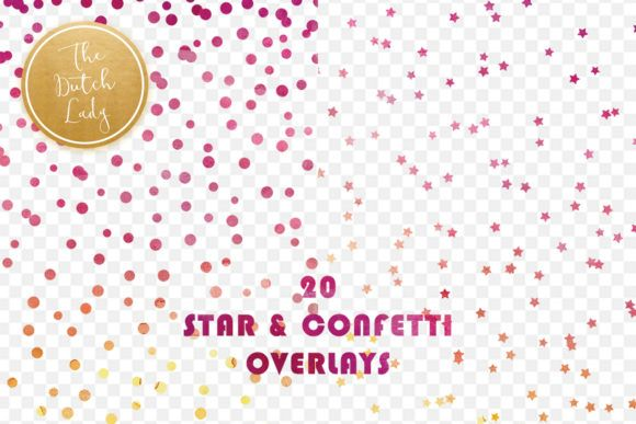 Star Confetti Overlay Clipart Graphic By Daphnepopuliers Creative Fabrica Overlays Clip Art Star Overlays
