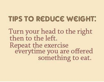 Dining Room exercise tip!