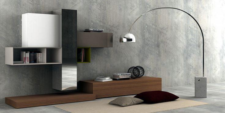 Composizione soggiorno serie spazio m211 di pianca for Pianca muebles