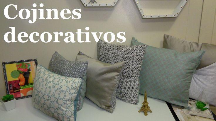 Cojines decorativos / Recicla almohadas viejas