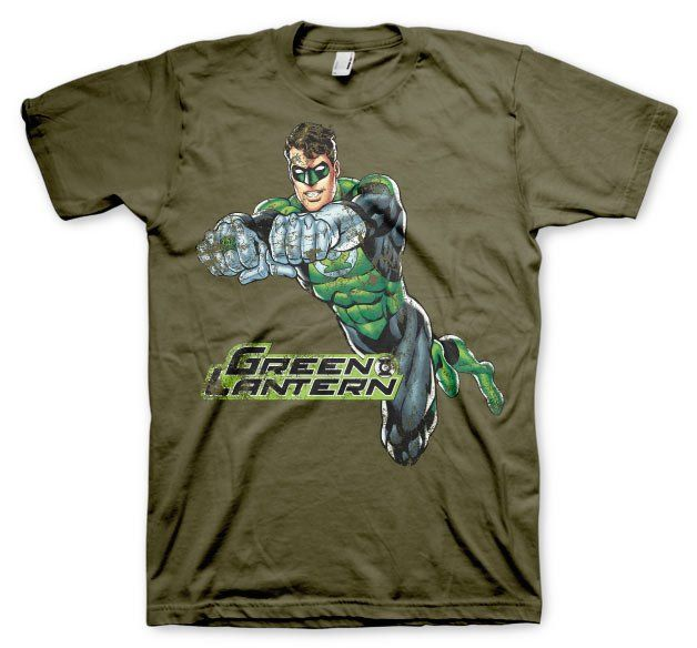 Green Lantern Distressed T-Shirt  Hybris  Mens T-Shirts, Green Lantern www.detoyboys.nl