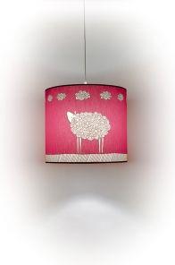 Dětské lustry - stínidlo růžové