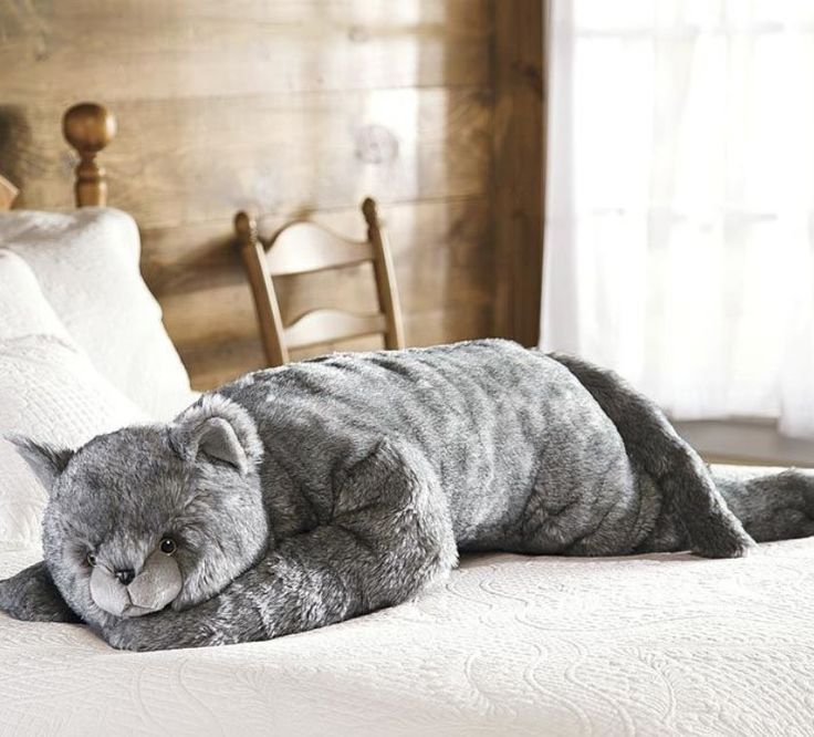 Giant Plush Animal Body Pillow Large Cat Soft Stuffed