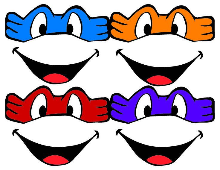 template for ninja turtle mask - Google Search